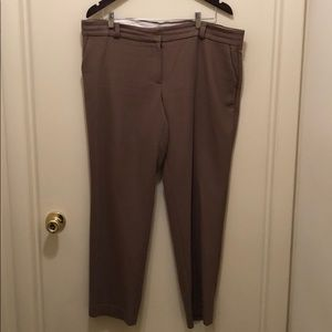 Ankle length taupe dress pants